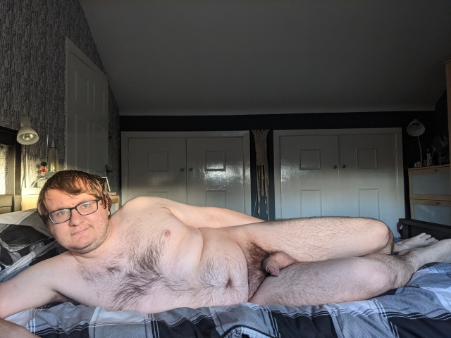 Nude selfie on my bed